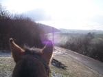 unser reizvolles Tal in der Wintersonne
