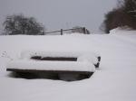 ne Menge Schnee auf unserer Austiegshilfe...