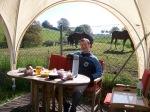 Reiterfrühstück- dieses gibts übrigens incl. bei unserer ÜN im Wohnwagen für 15.-€